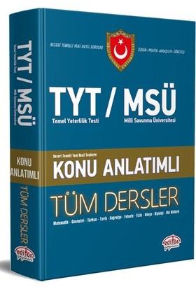 Editör Yayınları TYT / MSÜ Tüm Dersler Konu Anlatımlı