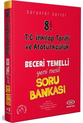 Data 8. Sınıf T.C. İnkilap Tarihi Ve Atatürkçülük Beceri Temelli Soru Bankası