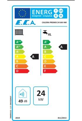 Eca Calora Premix 24/24 Kw (20.000 Kcal) Tam Yoğuşmalı Kombi
