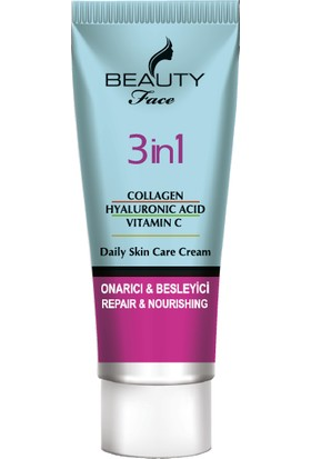 Beauty Face Collagen + Hyaluronic Acıd + Vitamin C Bakım Kremi 50 ml