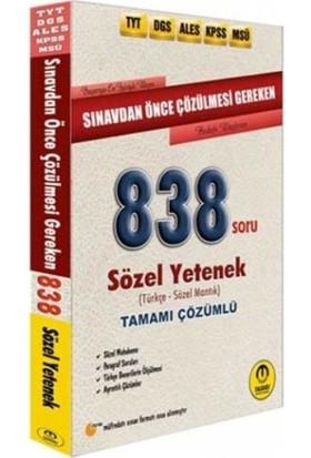 Tasarı Sınavdan Önce Çözülmesi Gereken Tamamı Çözümlü Sözel 838 Soru