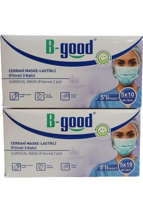 B-Good 3 Katlı Filtreli Cerrahi Maske 50 Adet 2'li