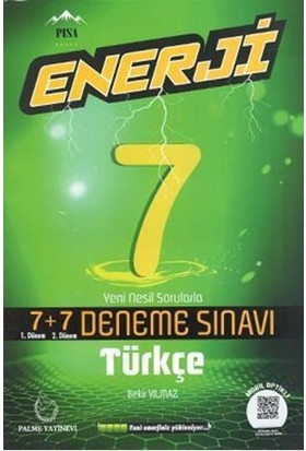 Palme 7.Sınıf Enerji 7+7 Türkçe Deneme Sınavı - Bekir Yılmaz