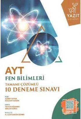 Yazıt YKS AYT Fen Bilimleri Çözümlü 10 Deneme Sınavı - Komisyon