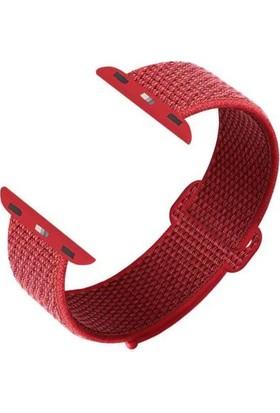 Axel Apple Watch Spor Loop Kordon Kayış 1 2 3 4 5 Seri 38/40mm Kırmızı