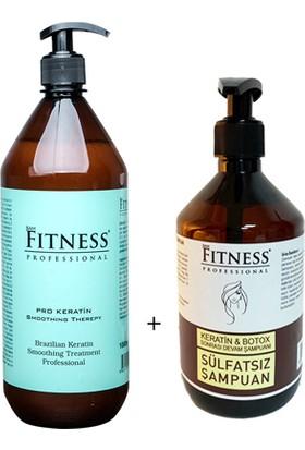 Sam Fitness Professional Saç Düzleştirici Keratin Bakımı 1000 ml + Sülfatsız Devam Şampuanı 500 ml