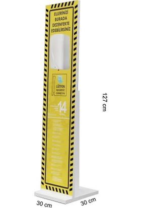Bayz Sensörlü Dezenfektan Standı Melamin Kaplama Fotoselli Ayaklı Stand 127 x 30 cm