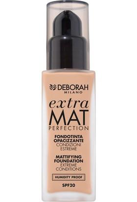 Deborah Extra Mat Perfection Fondöten No: 0 Fair Rose 30 ml