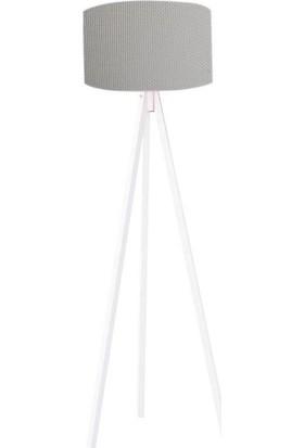 Mimilos 3 Ayaklı Dekoratif Lambader Koyu Gri/beyaz