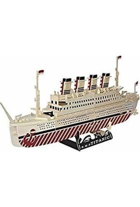 Mofy Baby Doğal Ahşap 3D Puzzle Maket Titanik Gemi