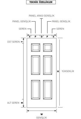Evim Amerikan Panel Kapı Evm178