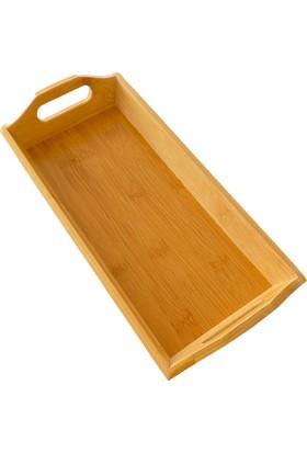 Balsa Bambu 30,5 x 14,7 x 5,8 cm Ekmek Sunum Tutmalı