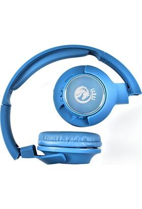 Rosstech X700BT Bass + Stereo Mikrofonlu Kulak Üstü Kulaklık - Mavi