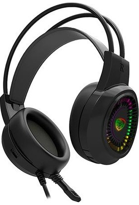 Hytech HY-G3 Eagle 7.1 USB Surround RGB Ledli Mikrofonlu Kulaklık Siyah