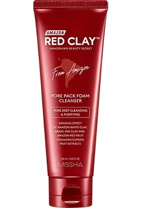 Mıssha Yağlı ve Gözenekli Ciltlere Köpük Temizleyici Red Clay Pore Pack Foam Cleanser