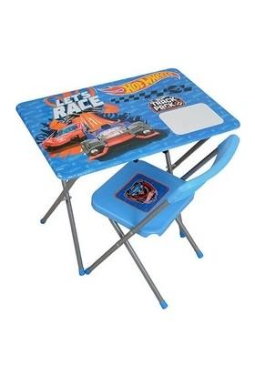 Vardem Hot Wheels Çalışma Masası Masa Sandalye Set