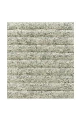 NW16 Çift Renk Gri Beyaz Tuğla Kendinden Yapışkanlı Su Geçirmez Esnek Duvar Paneli