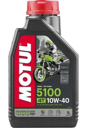 Motul 5100 10W40 4T 1 Litre Motosiklet Yağı ( Üretim Tarihi : 2020 )