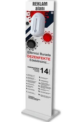 Bayz 18 mm Sensörlü Dezenfektan Standı - Sensörlü Dispenser Fotoselli