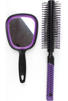 Elly Mor Aynalı Saç Fırça Seti -5
