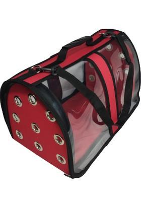 Fly Bag Kedi Köpek Şeffaf Taşıma Çantası Kırmızı