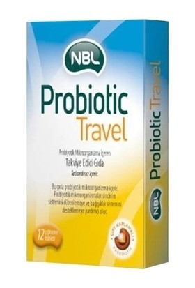 Nbl Probiyotik Travel 12 Çiğneme Tableti