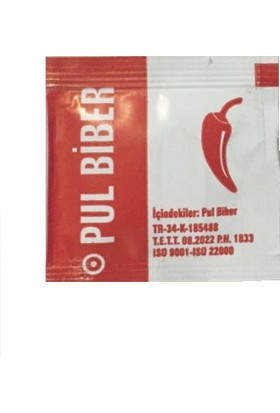 Master Pack Tek Kullanımlık Pul Biber 1000'LI x 0.6 gr