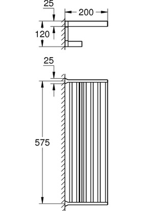 Grohe Selection Cube Çoklu Banyo Havluluğu 40804000