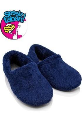 Twigy TT1251 Cool Lacivert Kadın Kışlık Ev Ayakkabısı