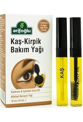 Arifoğlu Kaş Kirpik Bakım Yağı 10+10ML (Doğal E Vitaminli Organik Argan Yağlı)
