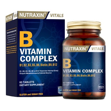 Nutraxin B Vitamin Complex 60 Bitkisel Kapsul Fiyati