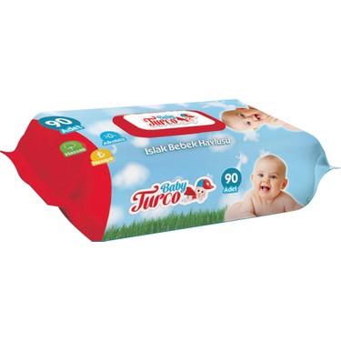 Baby Turco Islak Havlu Mendil Klasik 90 Yaprak 24 Paket Fiyatı