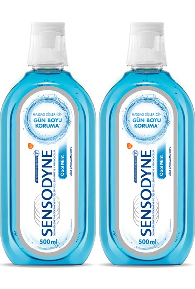 Sensodyne Cool Mint 500 ml 1+1 Ağız Bakım Suyu