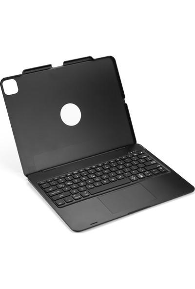 """Nout iPad Pro 12.9"""" (4. ve 3.Nesil) için Klavyeli Mouselu Kılıf (TouchPad, RGB Klavye)"""