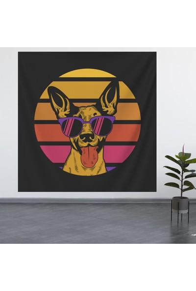 Alamode Renkli Köpek Model Duvar Örtüsü