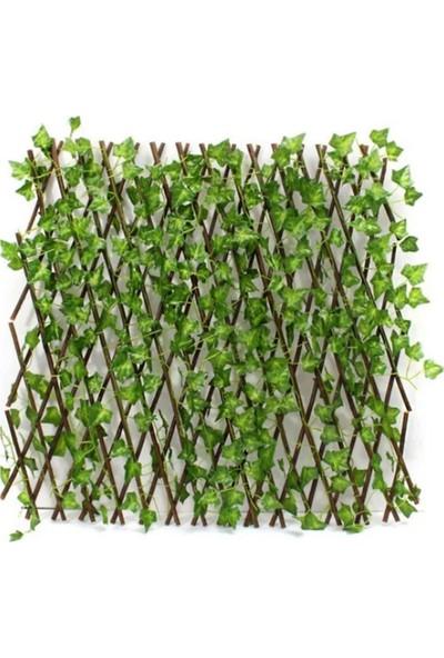 Bimbambom Yapay Sarmalıklı Çit Açılır Kapanır Ahşap Çit 120 cm x 2,5 m Kadar Uzar