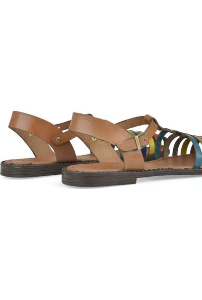 Uniquer Kadın Deri Sandalet