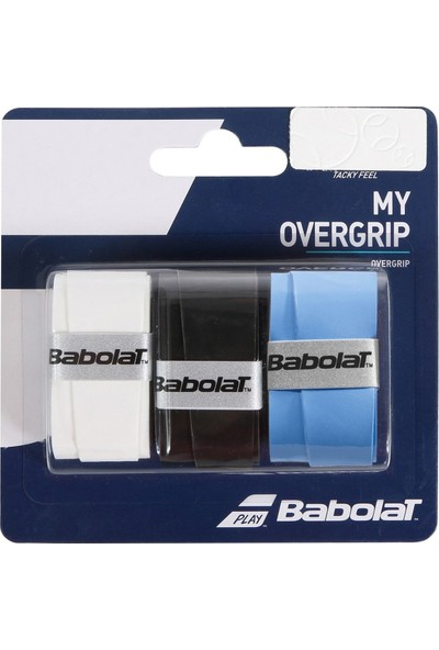 Babolat My Overgrıp Tenis Grıbı 3'lü Siyah Mavi Beyaz