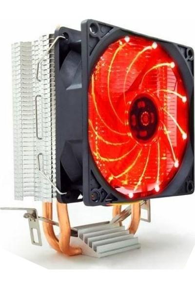 Snowman M200 Combo Intel/AMD 9cm LED Cpu Fan Kırmızı