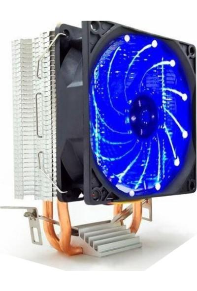 Snowman M200 Combo Intel/AMD 9cm LED Cpu Fan Mavi