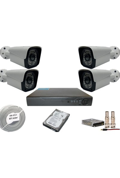 Promise 4 Kameralı Set 5 Mp Ahd Sistem 1440P Gece Görüşlü Kamera Sistemi Harddisk Dahil