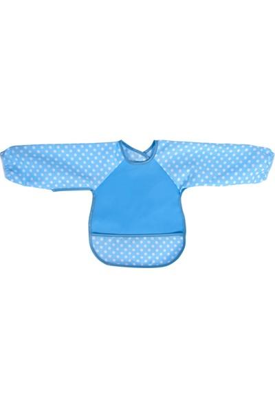 Sevi Bebe Kollu Mama Önlüğü - Mavi