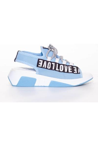 Pabucmarketi Kadın Mavi Sandalet