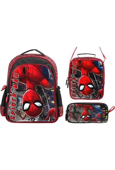 Frocx Ters Spiderman Lüks İlkokul Çanta Seti Erkek Çocuk