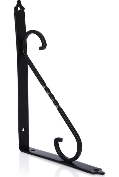 Ersa Ferforje Dekoratif Raf Altı Raf Ayağı Siyah 110 x 155 mm