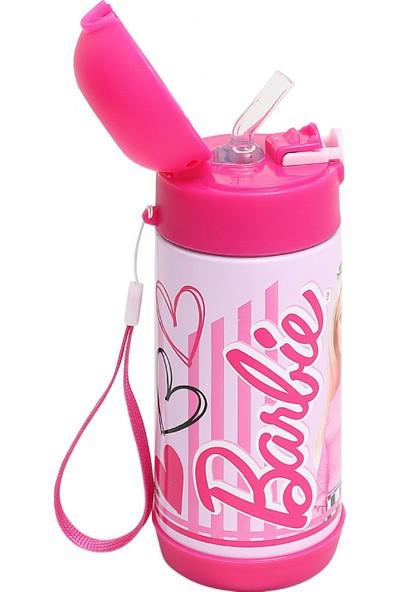 Frocx Barbie Lisanslı Kız Çocuk Çelik Matara 350 ml Pembe