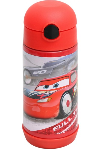 Frocx Cars Erkek Çocuk Çelik Matara Suluk Matara 350 ml Kırmızı
