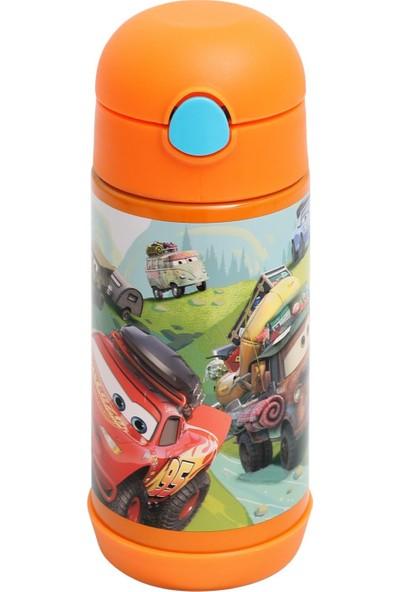 Frocx Disney Cars Çelik Matara Suluk Erkek Çocuk 350 ml Turuncu