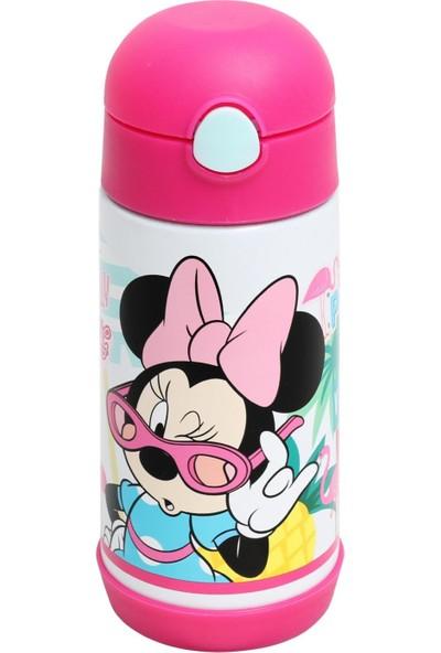 Frocx Minnie Mouse Kız Çocuk Çelik Matara 350 ml Pembe