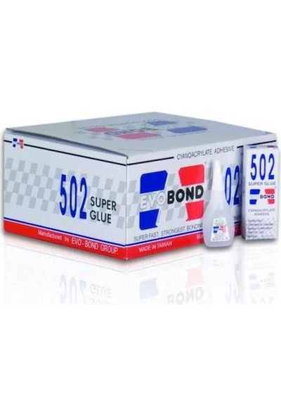 Evobond 502 Süper Japon Yapıştırıcı (50 Adet)